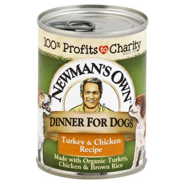 Newmans Own Turkey & Chicken Dog Food (12x12.7 Oz)