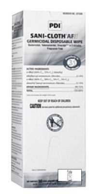 "Nice Pak� 11 1/2"" X 11 3/4"" Sani-Cloth� AF3 No Alcohol Extra Large Disposable Germicidal Wipe"