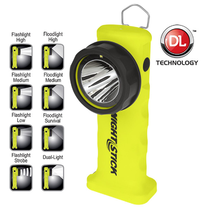 Nightstick Angle Light 6 AA Yellow 200 Lumens