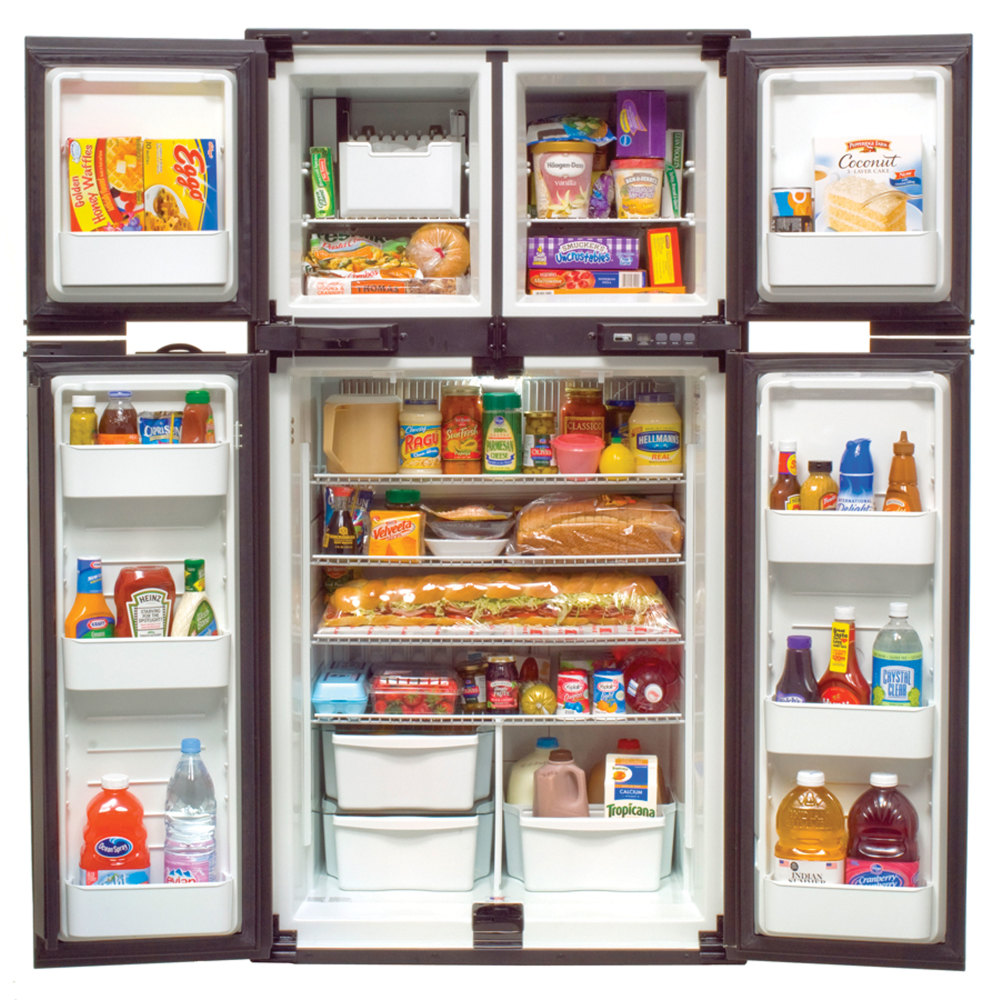 2-WAY REFRIGERATOR W/ICE MAKER,4-DOOR SIDE BY SIDE, 12 CUBIC FT STORAGE