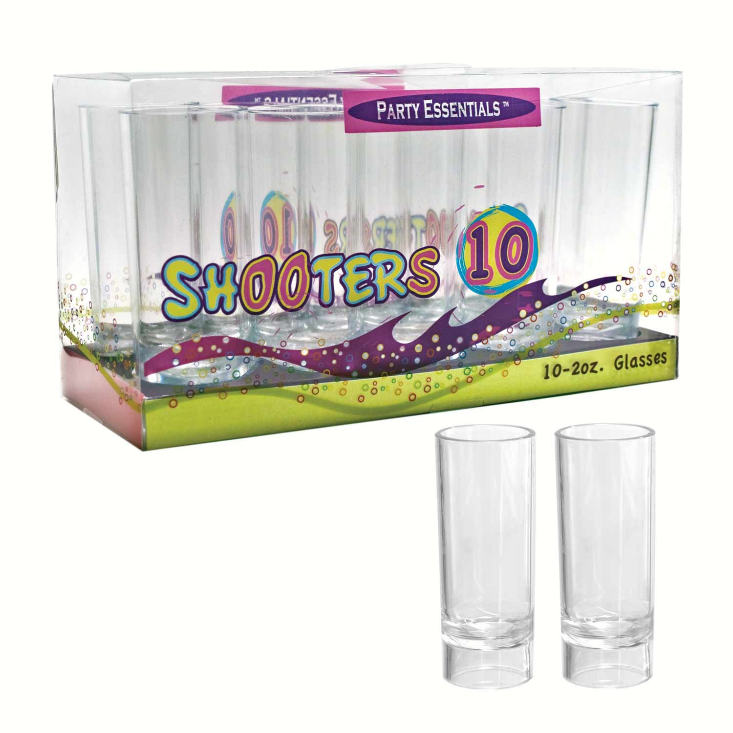 2 oz Shooter Glasses Clear 10 ct boxes