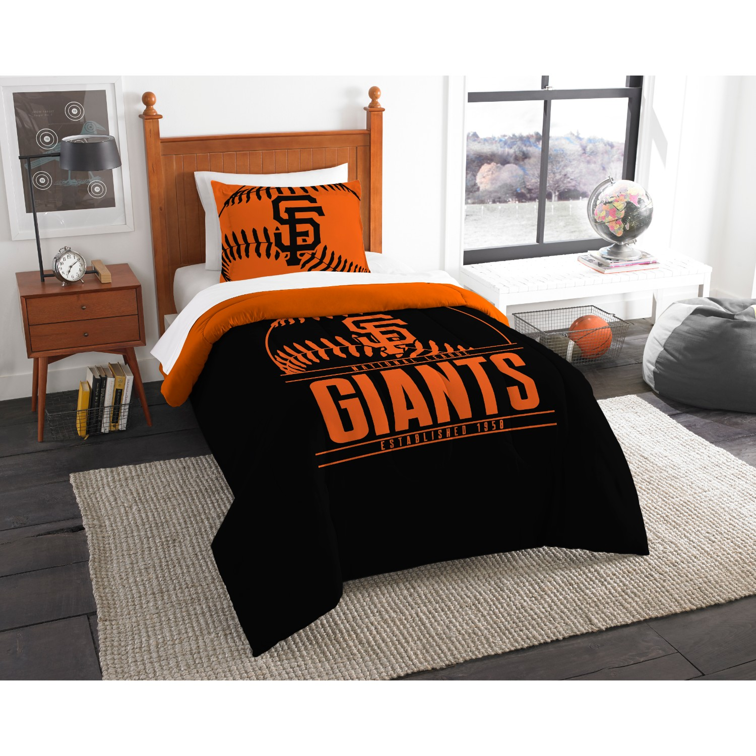 San Francisco Giants Twin Comforter Set