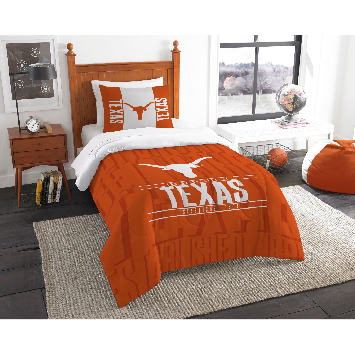 Texas Longhorns Twin Comforter Set