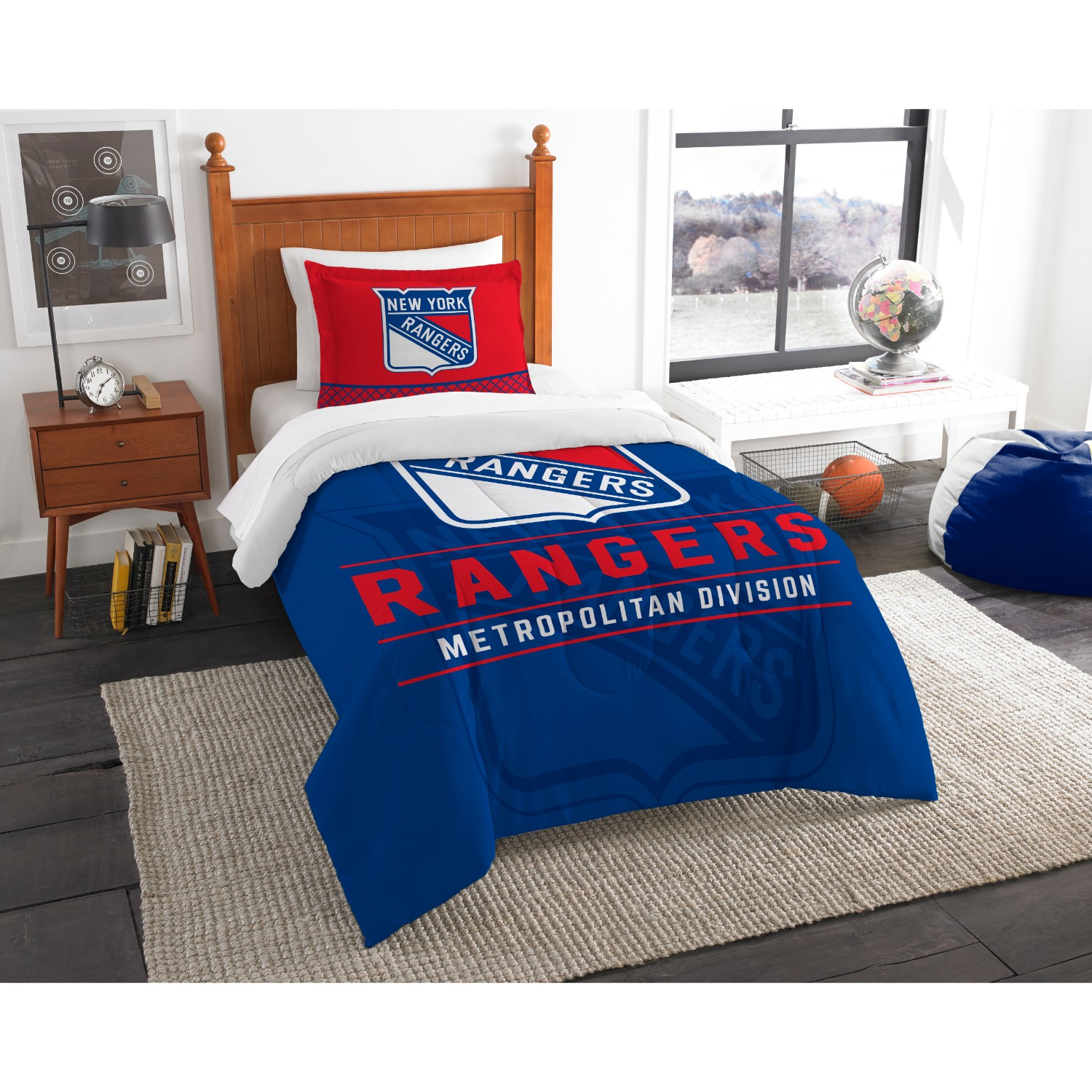 New York Rangers Twin Comforter Set
