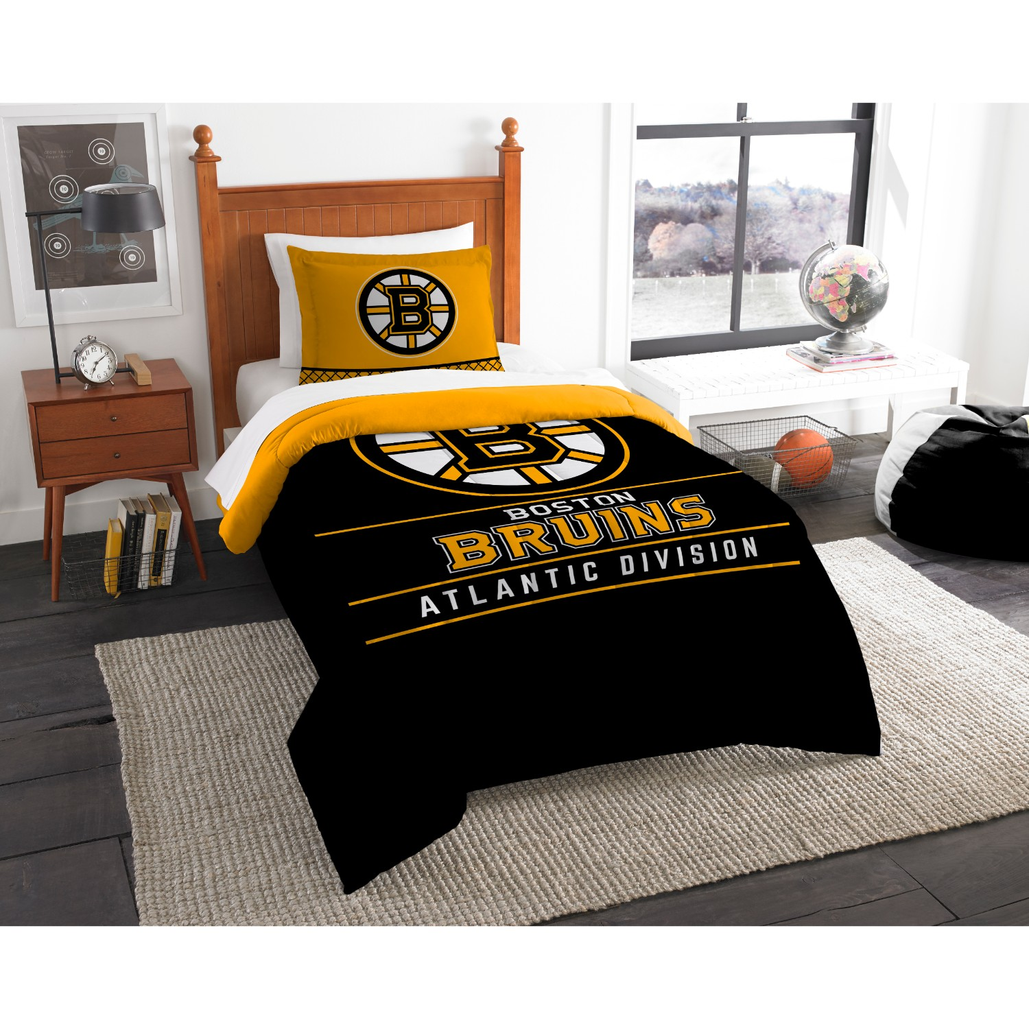 Boston Bruins Twin Comforter Set