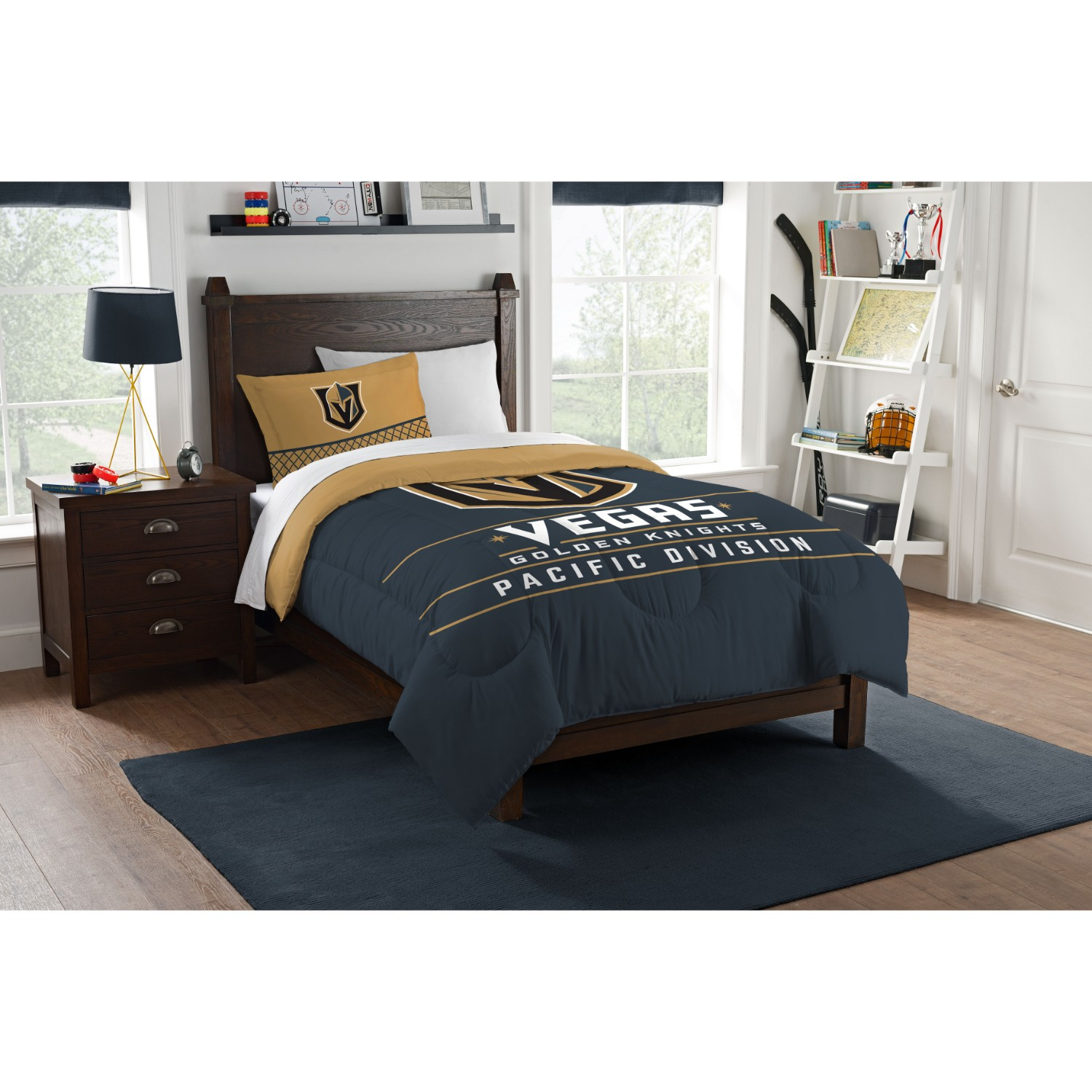 Vegas Golden Knights Twin Comforter Set