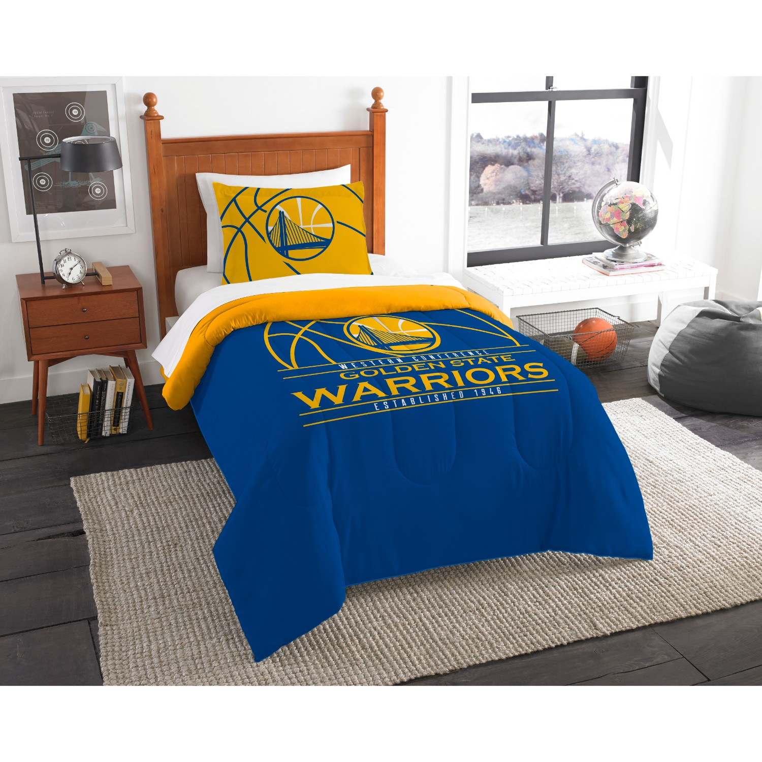 Golden State Warriors Twin Comforter Set