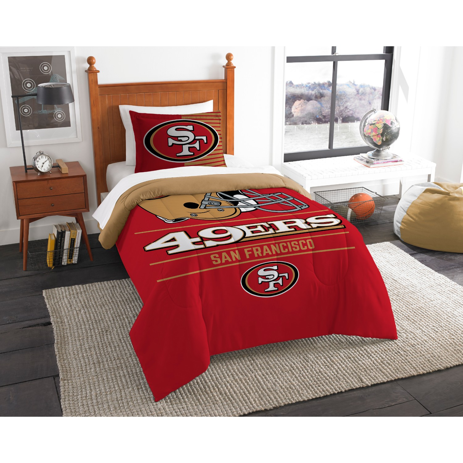 San Francisco 49ers Twin Comforter Set