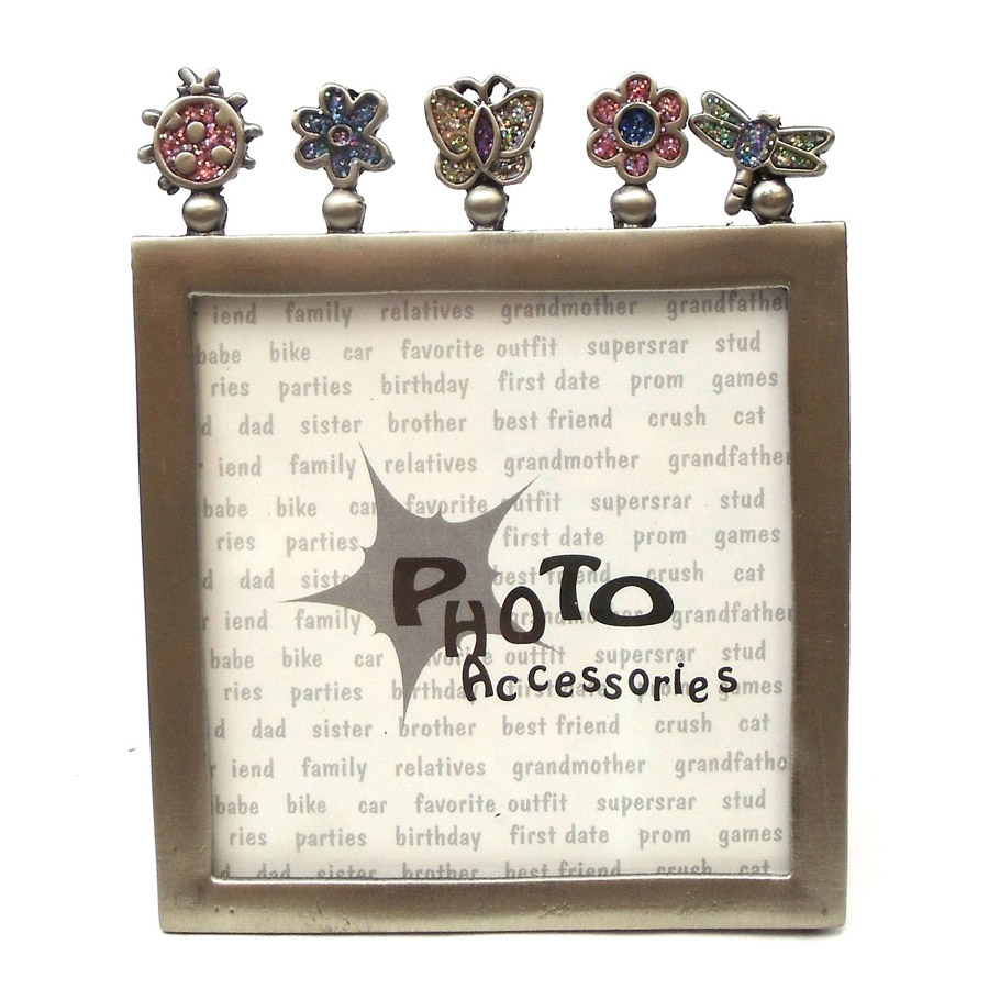 "BUGS AND PLANTS DIE CUT 4"" X 5"" PICTURE FRAME"