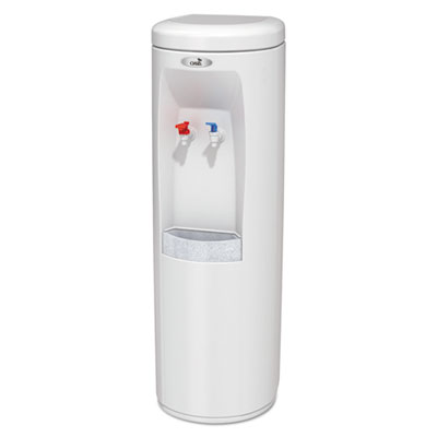 Atlantis Floorstand Hot N Cold Water Cooler, 13 dia. x 40 h, White