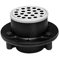 Oatey 151 Shower Drain, 2 in, NPT, Cast Iron