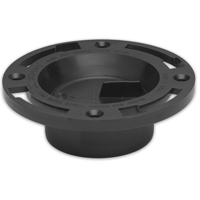 Level-Fit 43504 Closet Flange, 3 or 4 in, ABS Plastic