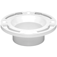 Oatey 43503 Level Fit Closet Flange, 3 or 4 in, 0.45 in Flange, PVC