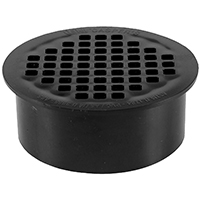 Oatey 43568 Snap-In Floor Drain, 4 in, Solvent Weld, ABS Plastic