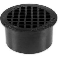 Oatey 43564 Snap-In Floor Drain, 3 in, Solvent Weld, ABS Plastic