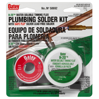 Safe-Flo 50692 Wire Solder Kit, 1 oz Carded, Solid, Silver Gray