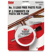 Oatey 53017 Lead Free Soldering Paste Flux, 1.7 oz, NO 5