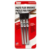 Oatey 30710 Acid Brush, 3 in Length X 1/2 in Width, Horse Hair Trim, Tin Plated Tubing Handle