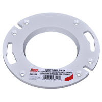 Oatey 43519 Closet Flange Spacer, For Use With Closet Flange, 1/4 in Diameter, 12 cu-ft, White