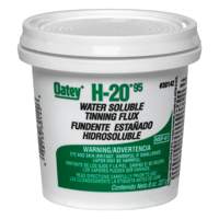 Oatey H-2095 Water Soluble Tinning Flux, 8 oz, Paste, Greenish-Gray