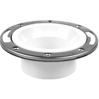 Oatey 43495 Level Fit Closet Flange, 3 or 4 in, PVC