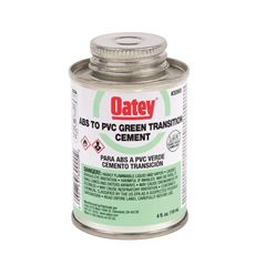OATEY� ABS TO PVC TRANSITION CEMENT, GREEN, 4 OZ.