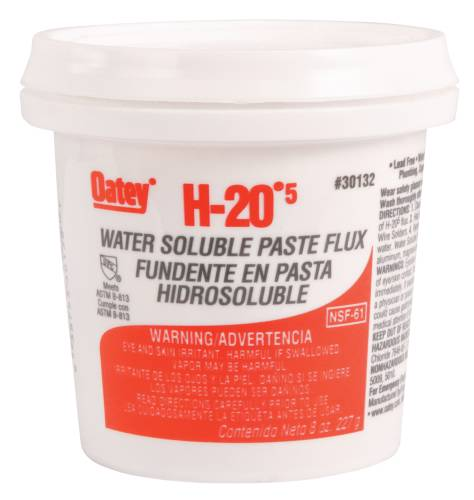 FLUX H-205 WATER SOLUBLE PASTE FLUX, 8 OZ.