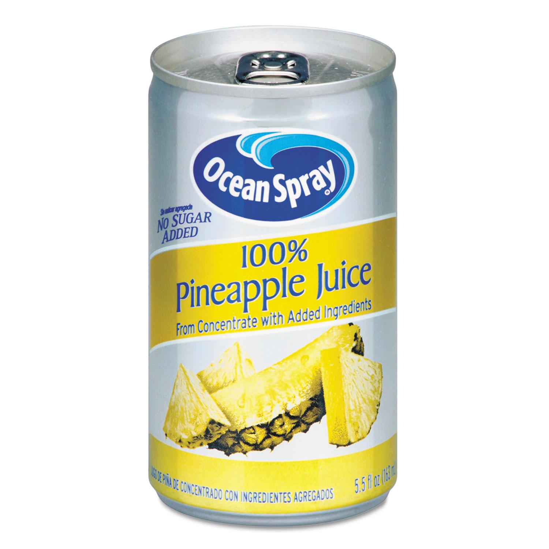 100% Juice, Pineapple, 5.5 oz Can