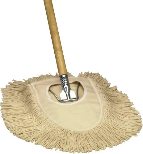 MAXIDUST WEDGE MOP WOOD HANDLE METAL FRAME