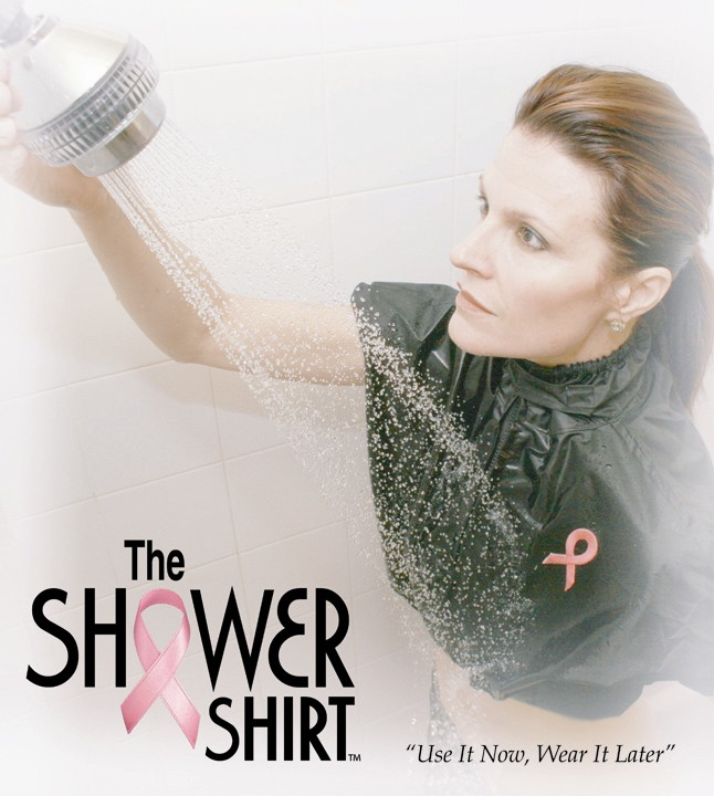 SHOWER SHIRT 201016  LXLB BLACK LARGE TO XL POST MASTECTOMY