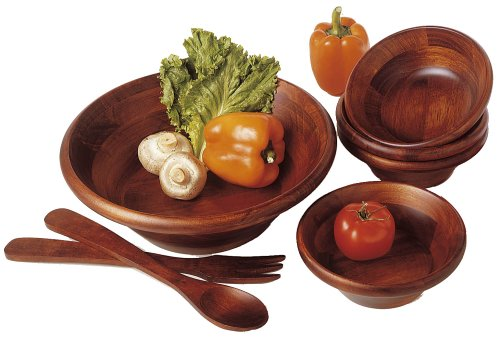 LIPPER 290/7 CHERRY SALAD BOWL ROUND SET 7 PIECE WITH SERVERS
