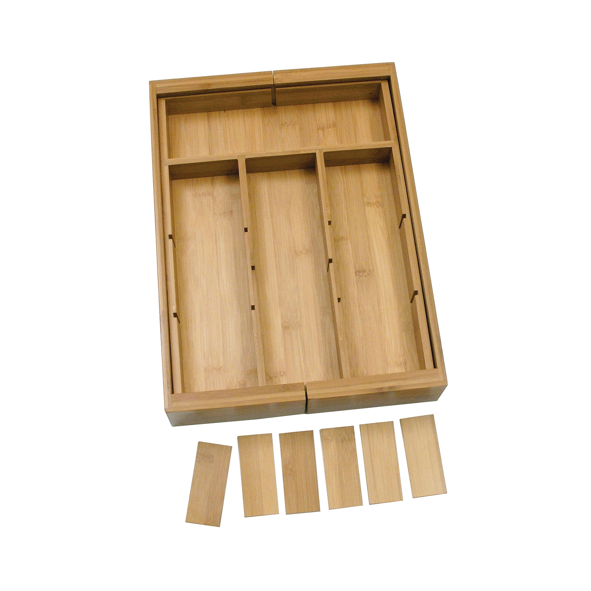 LIPPER 8882 BAMBOO ORGANIZER  EXPANDABLE ADJUSTABLE WITH 6