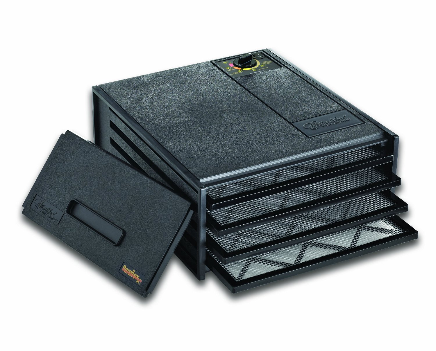 EXCALIBUR 2400 BLACK NON TIMER 4 TRAY DEHYDRATOR GIVES YOU