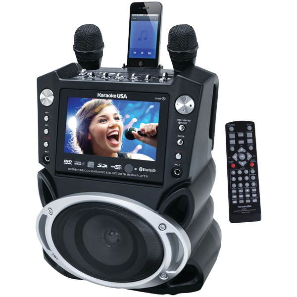 JSKARAOKE GF830 BLACK KARAOKE PLAYER DVD CD MP3 WITH 7 INCH