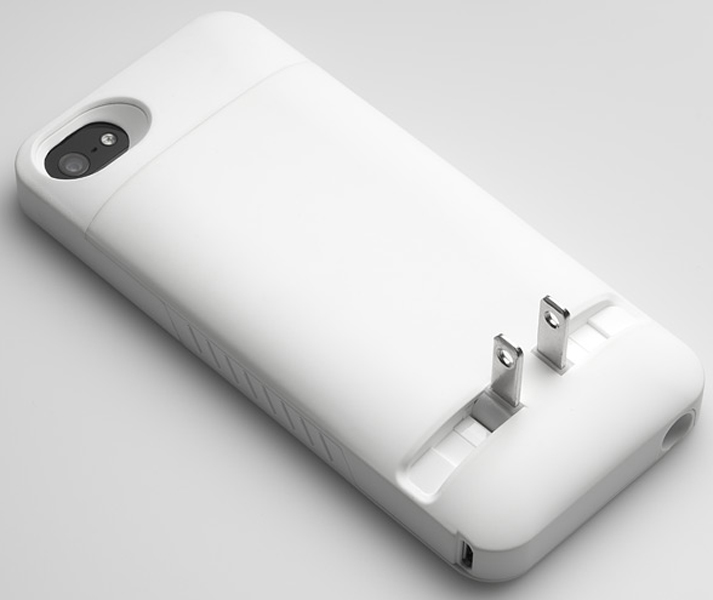 PRONG 01040202 WHITE POCKETPLUG CASE AND CHARGER FOR IPHONE