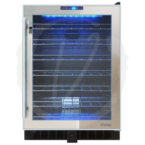 VINOTEMP VT54TSSM  54 BOTTLE TOUCH SCREEN MIRRORED WINE