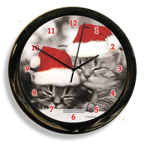 CALIFORNIA CLOCK 41616 BLACK AND WHITE CAT CLOCK BY DESIGNER