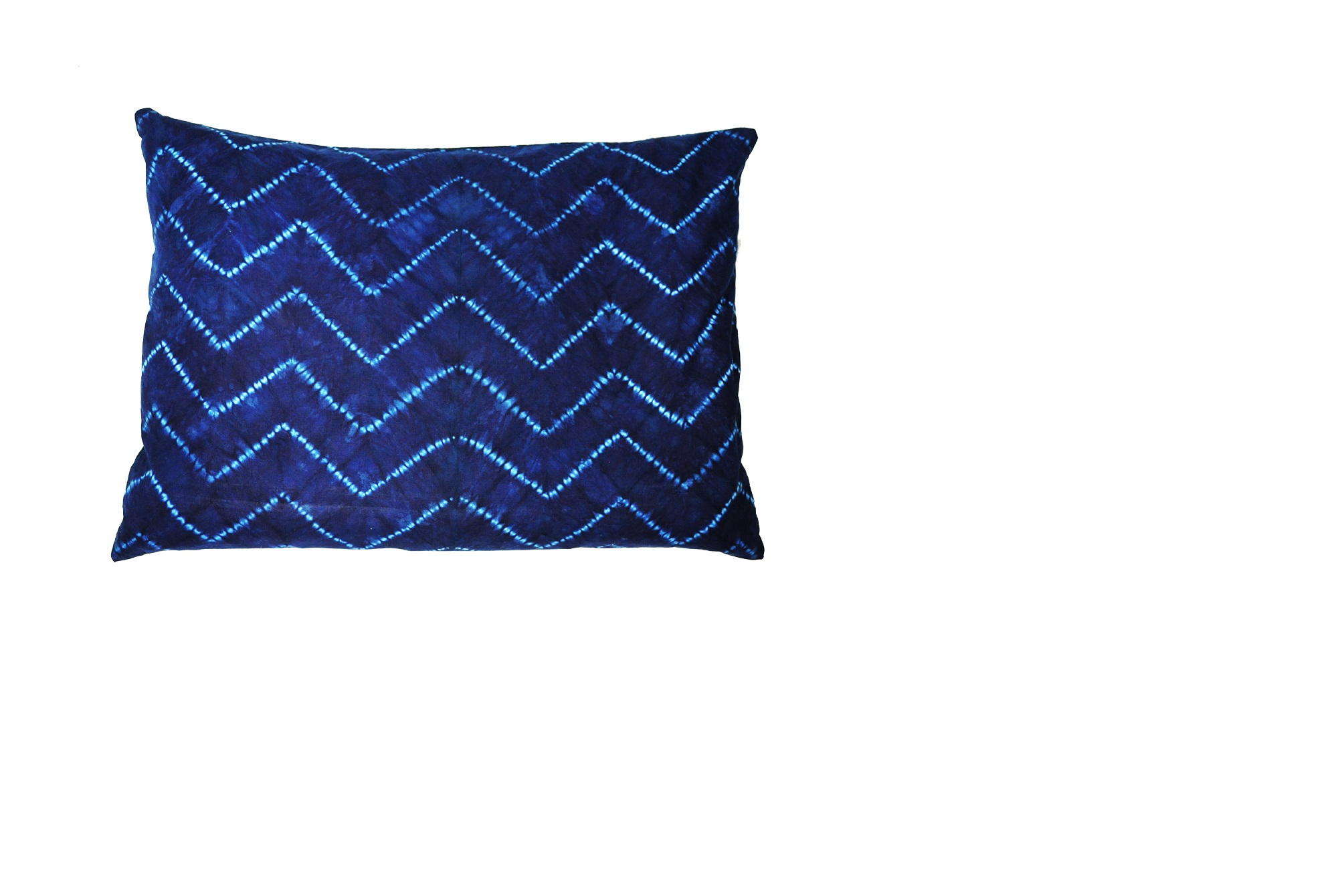 CALYZ GGPCAL001 INDIGO CHEVRON PILLOW HAND MADE AND EASY