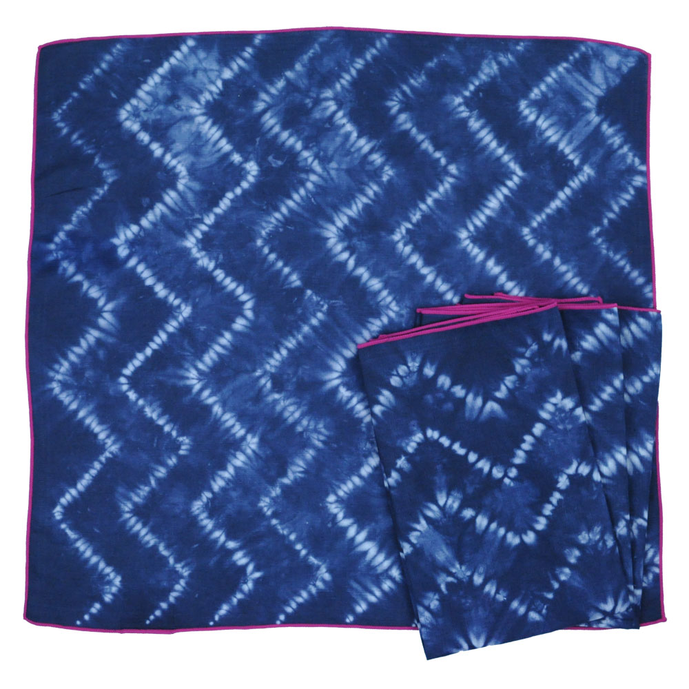 Calyz Ggpcal002 Indigo Chevron Napkins Set Of 4