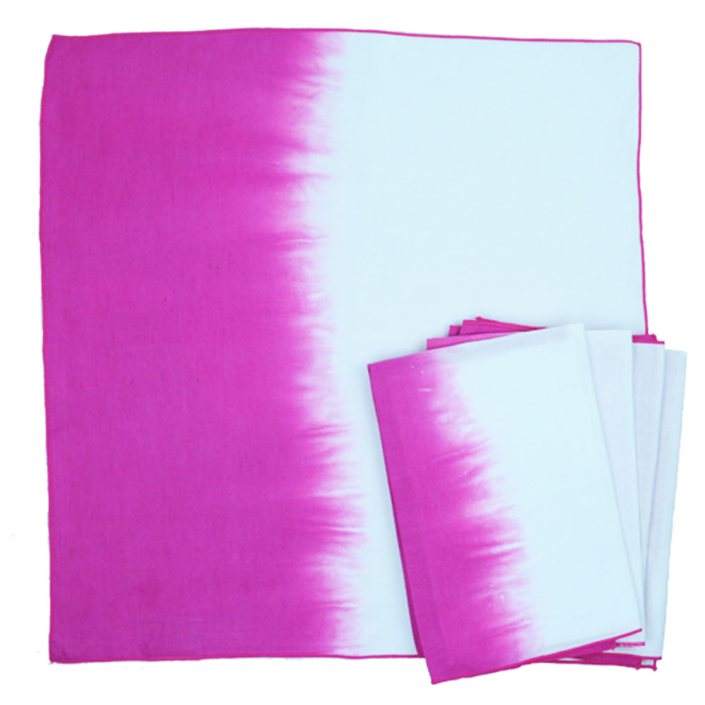 Calyz Ggpcal0052 Pink Ombre Napkins Set Of 4 Is Handmade