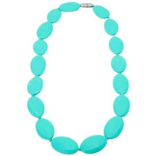 TINY TEETHERS BC003 TURQUOISE BLUEGRASS TEETHING NECKLACE