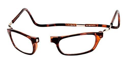 CLIC Dark Demi XXL125 BROWN READING GLASSES EXPANDABLE XXL125