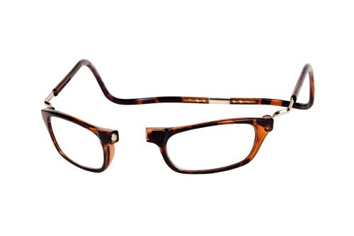CLIC Dark Demi XXL175 BROWN READING GLASSES EXPANDABLE XXL175