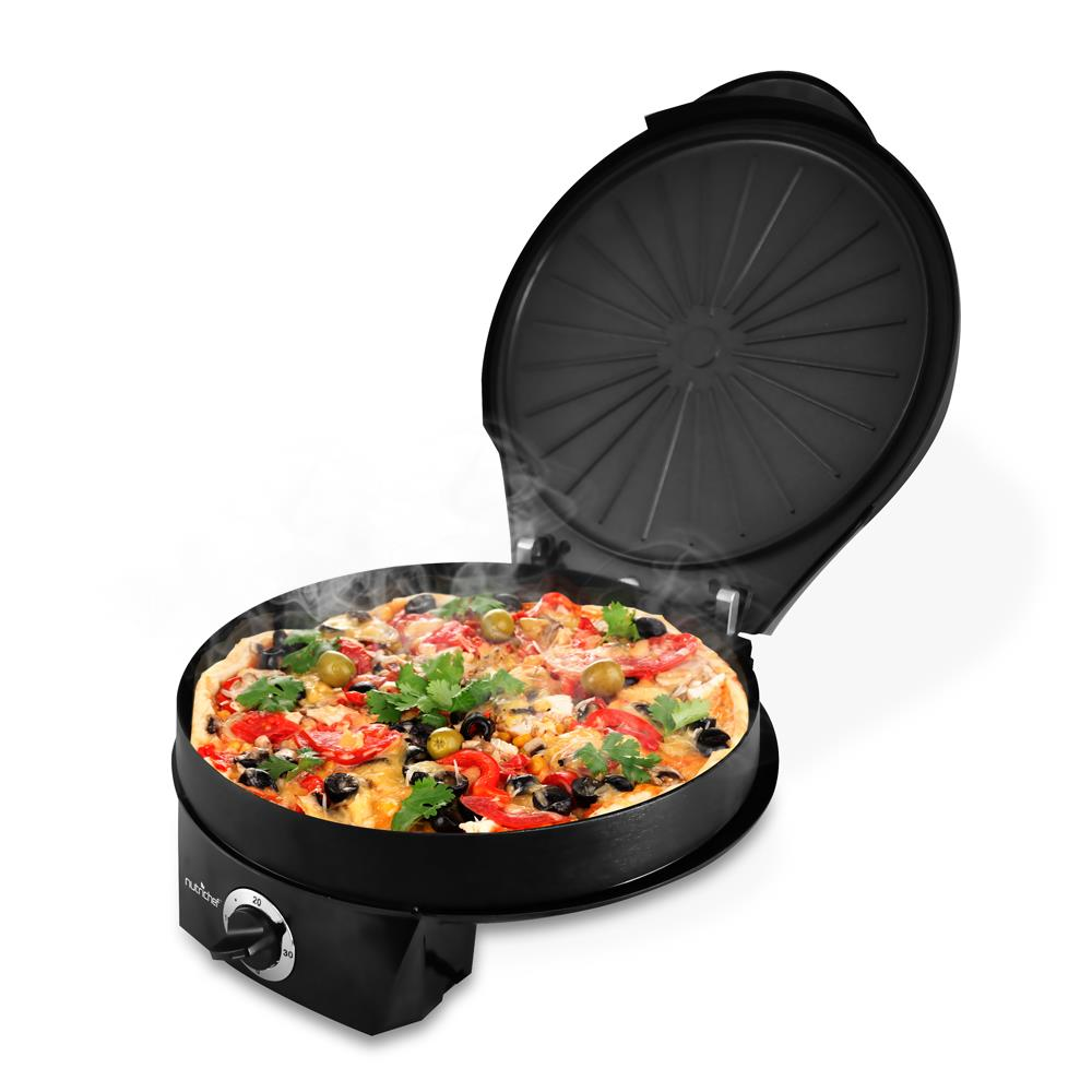 NUTRICHEF PKPZM12 BLACK ELECTRIC PIZZA MAKER AND PIZZA OVEN