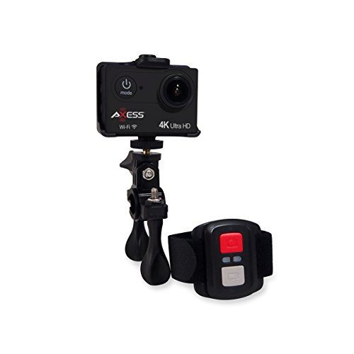 AXESS CS3610BK BLACK 4K ULTRA HD ACTION CAM WITH WIFI