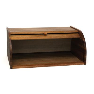 LIPPER 1146 ACACIA BREAD BOX WITH ROLL TOP TO ACCOMODATE