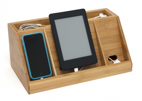 LIPPER 817 BAMBOO DELUXE CHARGING STATION DESCRETELY HIDE &