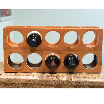 LIPPER 8305 BAMBOO WINE RACK PERFECT WAY TO STORE AND DISPLAY