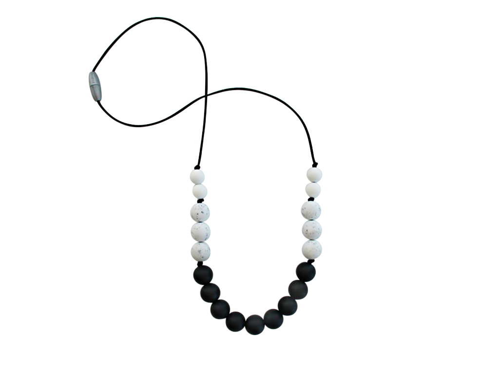 TINY TEETHERS AC003 ASTER COLLECTION BEADS MARBLE BLACK &