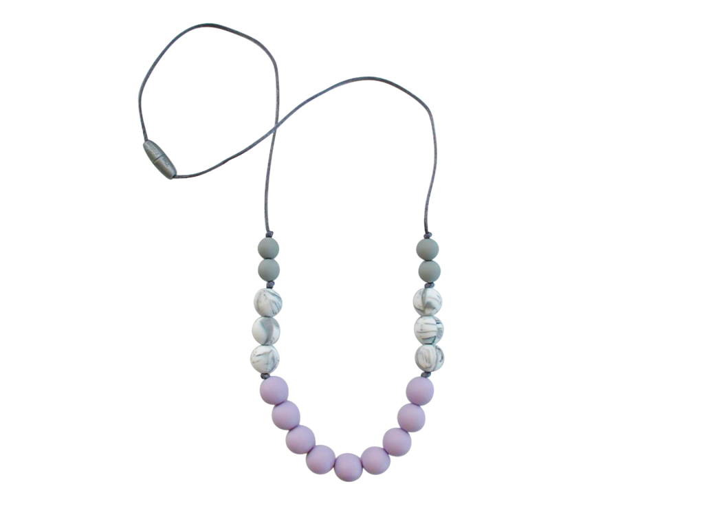 TINY TEETHERS AC007 ASTER COLLECTION BEADS LAVENDER GRAY &